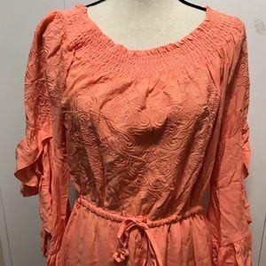 Fever Peach Dress Size M